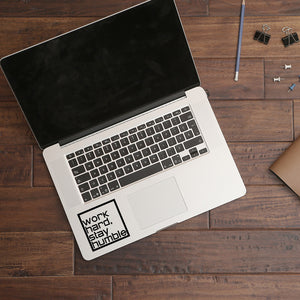 Work hard stay humble | Trackpad decal | Macbook Decal | Adnil Creations