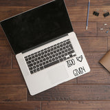 Zero fox given | Trackpad decal | Macbook Decal | Adnil Creations