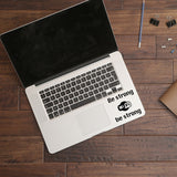 Be strong Wi-Fi | Trackpad decal | Macbook Decal | Adnil Creations
