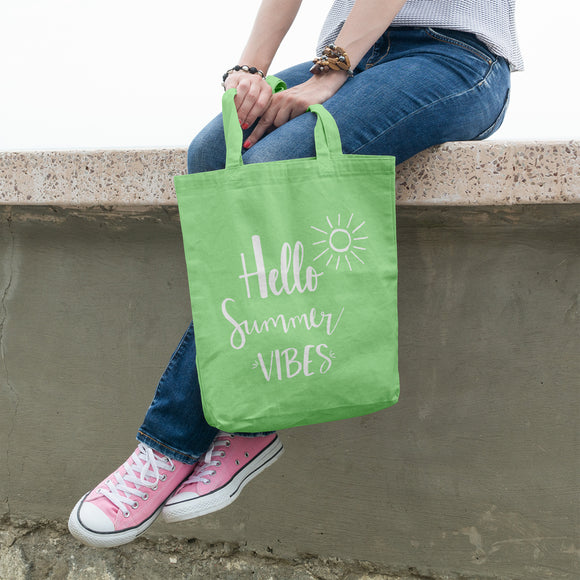 Hello Summer Vibes | 100% Cotton Tote Bag | Tote Bag | Adnil Creations