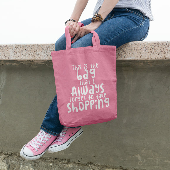 This is the bag that I always forget to take shopping | 100% Cotton Tote Bag | Tote Bag | Adnil Creations