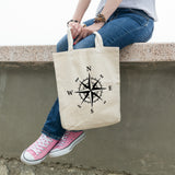 Compass Rose | 100% Cotton Tote Bag | Tote Bag | Adnil Creations