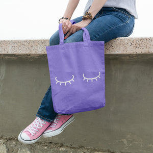 Sleepy eyes | 100% Cotton Tote Bag | Tote Bag | Adnil Creations