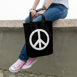Peace sign | 100% Cotton Tote Bag | Tote Bag | Adnil Creations