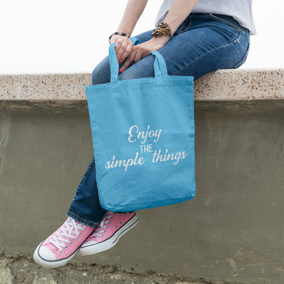Enjoy the simple things | 100% Cotton Tote Bag | Tote Bag | Adnil Creations