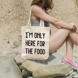 I'm only here for the food | 100% Cotton Tote Bag | Tote Bag | Adnil Creations
