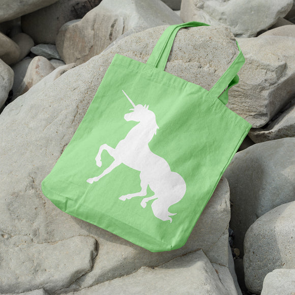 Unicorn Silhouette | 100% Cotton Tote Bag - Adnil Creations