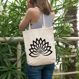 Lotus Flower | 100% Cotton Tote Bag | Tote Bag | Adnil Creations