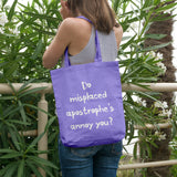 Do misplaced apostrophe's annoy you? | 100% Cotton Tote Bag | Tote Bag | Adnil Creations