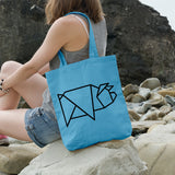 Geometric Pig | 100% Cotton Tote Bag | Tote Bag | Adnil Creations