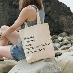 Definition of cleaning | 100% Cotton Tote Bag