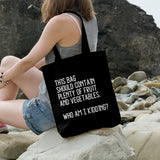 Who am I kidding? | 100% Cotton Tote Bag | Tote Bag | Adnil Creations