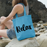 Relax | 100% Cotton Tote Bag | Tote Bag | Adnil Creations