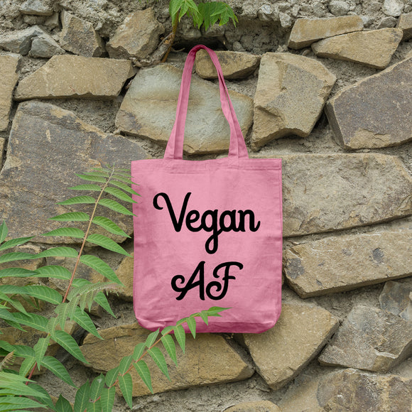 Vegan AF | 100% Cotton Tote Bag | Tote Bag | Adnil Creations