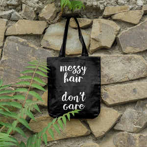 Messy Hair Don't Care | 100% Cotton Tote Bag | Tote Bag | Adnil Creations