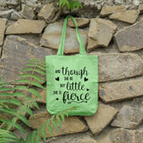 And though she be but little she is fierce | 100% Cotton Tote Bag | Tote Bag | Adnil Creations