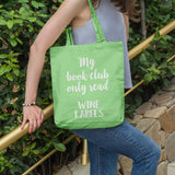 My book club only read wine labels | 100% Cotton Tote Bag | Tote Bag | Adnil Creations