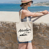 Adventure is out there | 100% Cotton Tote Bag | Tote Bag | Adnil Creations