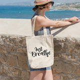 Just breathe | 100% Cotton Tote Bag | Tote Bag | Adnil Creations