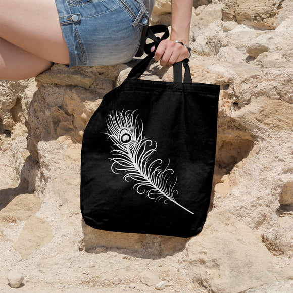 Peacock feather | 100% Cotton Tote Bag