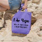 I do yoga | 100% Cotton Tote Bag | Tote Bag | Adnil Creations