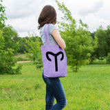 Aries Zodiac Sign | 100% Cotton Tote Bag | Tote Bag | Adnil Creations