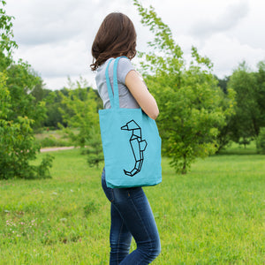 Geometric Seahorse | 100% Cotton Tote Bag | Tote Bag | Adnil Creations