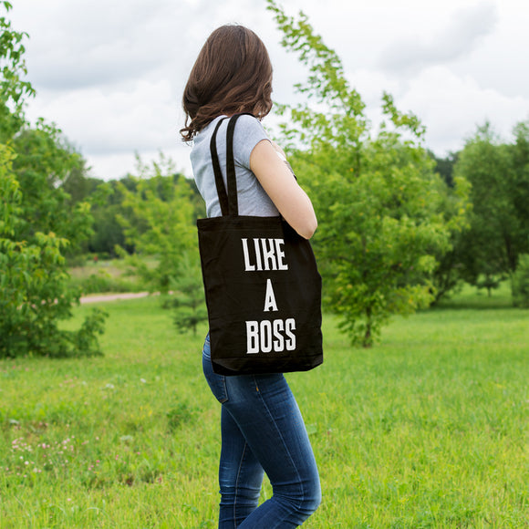 Like a boss | 100% Cotton Tote Bag | Tote Bag | Adnil Creations