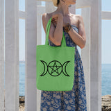 Pagan triple moon | 100% Cotton Tote Bag | Tote Bag | Adnil Creations