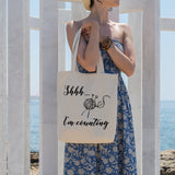 Shhh... I'm counting | 100% Cotton Tote Bag