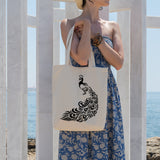 Peacock | 100% Cotton Tote Bag | Tote Bag | Adnil Creations
