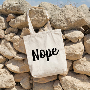 Nope | 100% Cotton Tote Bag | Tote Bag | Adnil Creations