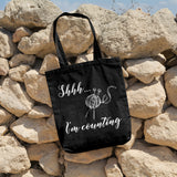 Shhh... I'm counting | 100% Cotton Tote Bag | Tote Bag | Adnil Creations