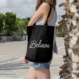 Believe | 100% Cotton Tote Bag | Tote Bag | Adnil Creations