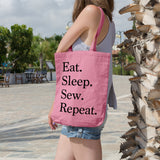 Eat. Sleep. Sew. Repeat. | 100% Cotton Tote Bag | Tote Bag | Adnil Creations