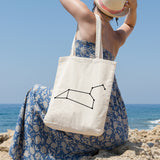 Leo Constellation | 100% Cotton Tote Bag