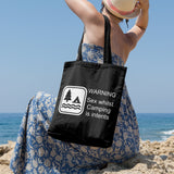 Sex whilst camping is intents | 100% Cotton Tote Bag | Tote Bag | Adnil Creations
