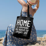 Home is wherever my bunch of crazies are | 100% Cotton Tote Bag | Tote Bag | Adnil Creations