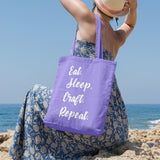 Eat. Sleep. Craft. Repeat. | 100% Cotton Tote Bag | Tote Bag | Adnil Creations