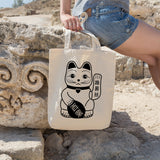 Japanese lucky cat | 100% Cotton Tote Bag | Tote Bag | Adnil Creations