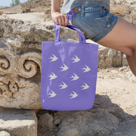Swallow pattern | 100% Cotton Tote Bag - Adnil Creations