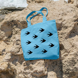 Swallow pattern | 100% Cotton Tote Bag | Tote Bag | Adnil Creations