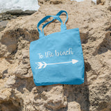 To the beach | 100% Cotton Tote Bag | Tote Bag | Adnil Creations