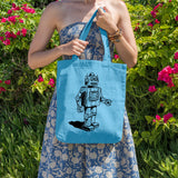 Retro 50's Robot | 100% Cotton Tote Bag | Tote Bag | Adnil Creations