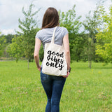 Good vibes only | 100% Cotton Tote Bag | Tote Bag | Adnil Creations