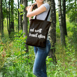 Eat well travel often | 100% Cotton Tote Bag | Tote Bag | Adnil Creations