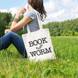 Bookworm | 100% Cotton Tote Bag | Tote Bag | Adnil Creations