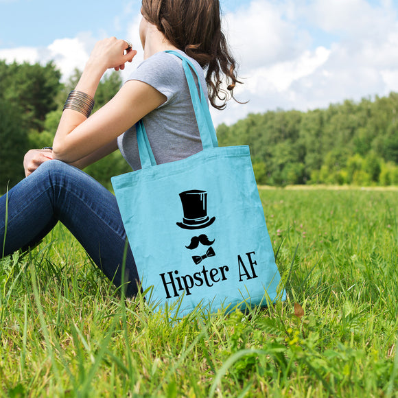 Hipster AF | 100% Cotton Tote Bag | Tote Bag | Adnil Creations