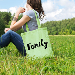 Family | 100% Cotton Tote Bag | Tote Bag | Adnil Creations