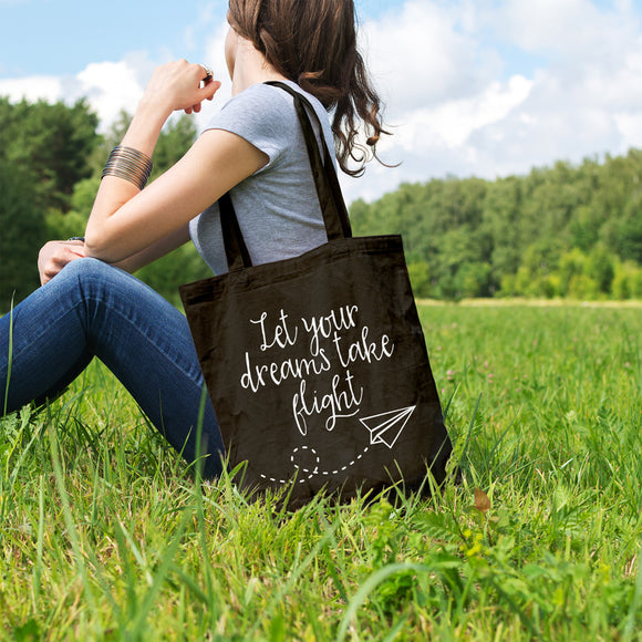 Let your dreams take flight | 100% Cotton Tote Bag